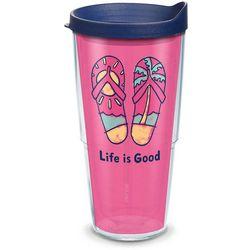 Tervis 24 oz. Pink Flip Flops Travel Tumbler