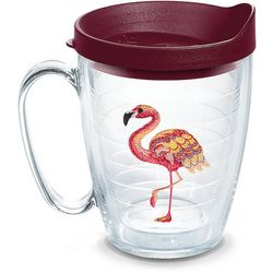 Tervis 16 oz. Colorful Flamingo Travel Mug