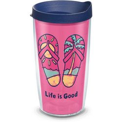 Tervis 16 oz. Life Is Good Flip Flops Travel Tumbler