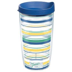 Tervis 16 oz. Fiesta Stripe Travel Tumbler