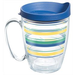 Tervis 16 oz. Fiesta Striped Mug With Lid