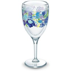 Tervis 9 oz. Fiesta Purple Floral Wine Glass