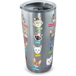 Tervis 20 oz. Stainless Steel Flat Art Cats Tumbler