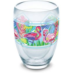 Tervis 9 oz. Bright Flamingo Stemless Wine Glass