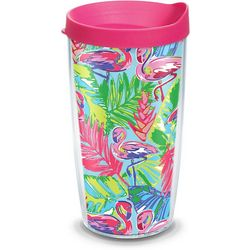 Tervis 16 oz. Bright Flamingo Tumbler With Lid