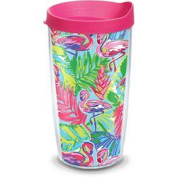Tervis 16 oz. Bright Flamingo Tumbler With Lid
