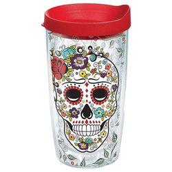 Tervis 16 oz. Fiesta Skull Travel Tumbler