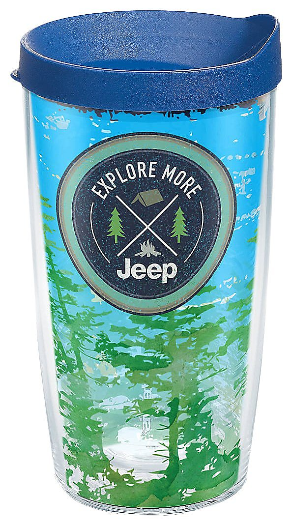 1001a2cf00f Details about Tervis 16 oz. Jeep Explore More Travel Tumbler With Lid One  Size Blue/green