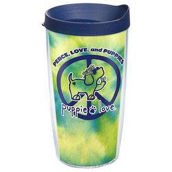 Tervis 16 oz. Puppie Love Peace Travel Tumbler With Lid