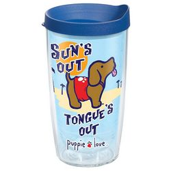 Tervis 16 oz. Puppie Love Sun's Out Travel Tumbler With Lid