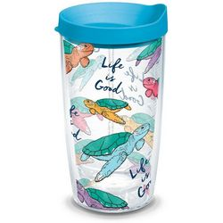 Tervis 16 oz. Life Is Good Turtle Travel Tumbler