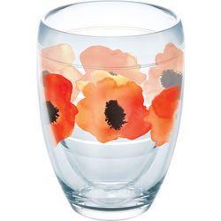 Tervis 9 oz. Watercolor Poppy Stemless Wine Glass