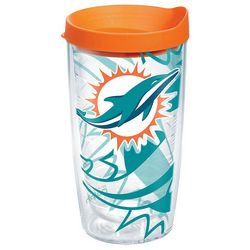Tervis 16 oz. Miami Dolphins Travel Tumbler With Lid