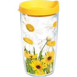 Tervis 16 oz. White Daisies Tumbler With Lid