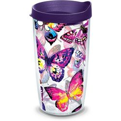 Tervis 16 oz. Purple Butterfly Passion Tumbler With Lid