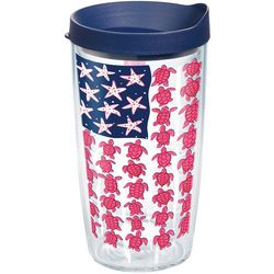 Tervis 16 oz. Simply Southern Turtle Flag Tumbler With Lid