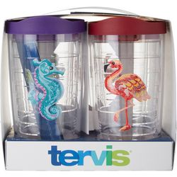 Tervis 4-pc. 16 oz. Tropical Animal Tumbler With Lid Set