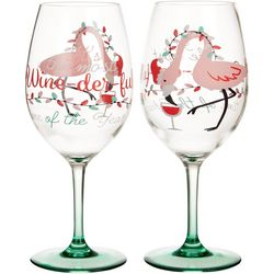 Brighten the Season Wine-der-ful 2-pc. Wine Goblet Set