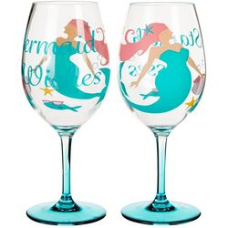 Tropix 2-pc. Mermaid Wine Goblet Set