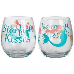 Tropix 2-pc. Mermaid Wishes Stemless Goblet Set