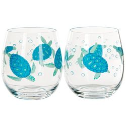 Tropix 2-pc. Turtles Stemless Goblet Set