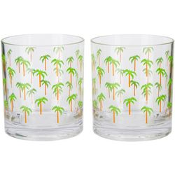 Tropix 2-pc. Palm Tree Double Old Fashioned Glass Set