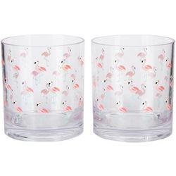Tropix 2-pc. Flamingo Double Old Fashioned Glass Set