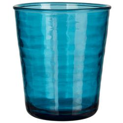 Coastal Home 14 oz. Ribbed Texture Double Old Fashion Glass