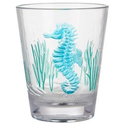 Tropix 15 oz. Embossed Seahorse Double Old Fashioned Glass