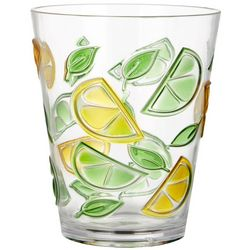 Tropix 14 oz. Lemon Lime Double Old Fashioned Glass