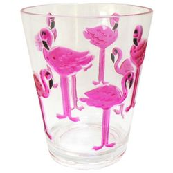 Tropix 15 oz. Embossed Flamingo Double Old Fashioned Glass