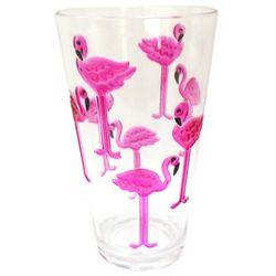 Tropix 20 oz. Embossed Flamingo Highball Glass