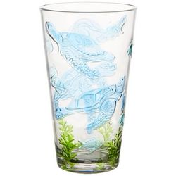 Tropix 20 oz. Embossed Sea Turtle Highball Glass