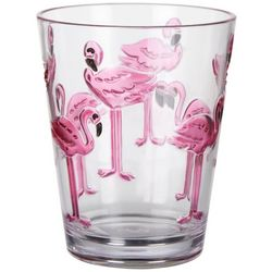 Tropix 15 oz. Flamingo Double Old Fashioned Glass