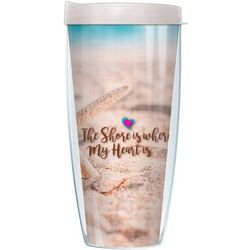 COVO 22 oz. Shore Heart Travel Tumbler