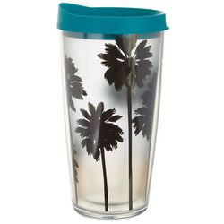 Tropix 16 oz. Sunset Palms Travel Tumbler