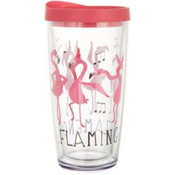 Tropix 16 oz. Flamingo Flamenco Travel Tumbler