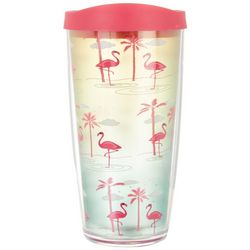 COVO 16 oz. Tropical Flamingo Travel Tumbler