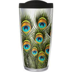 COVO 16 oz. Peacock Feathers Travel Tumbler