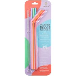 Manna 7-pc. Silicone Reusable Straw Set