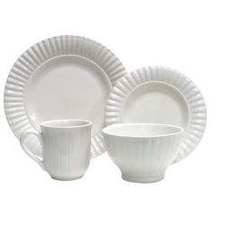 Thomson Pottery 16-pc. Maison White Dinnerware Set