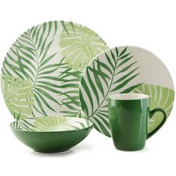 Thomson Pottery 16-pc. Palm Leaf Dinnerware Set