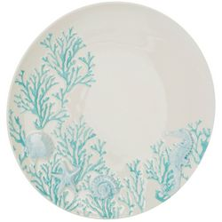 Coastal Home Blue Coral Dinner Plate