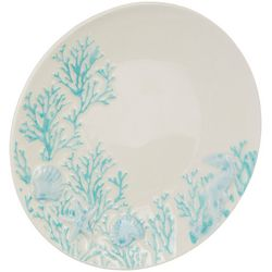 Coastal Home Blue Coral Appetizer Plate