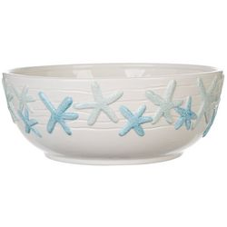 Gibson Cape Coral Starfish Serving Bowl
