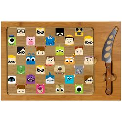 Toscana Pixar Collection Icon Cutting Board & Knife Set