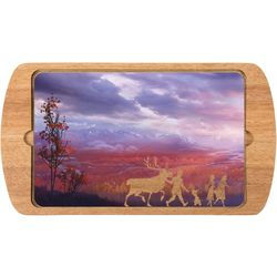 Picnic Time Disney Frozen II Billboard Glass Top Tray
