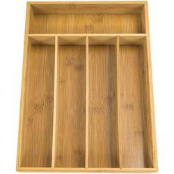 Home Basics Bamboo Cutlery Tray