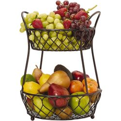 Gourmet Basics by Mikasa Lattice 2 Tier Basket
