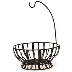 Gourmet Basics by Mikasa Stripe Basket With Hook